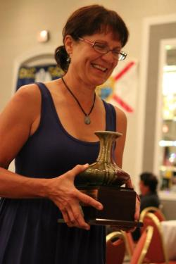 Sharon Jenkins received the PDGA's Honored Sportswoman Award in 2011. Photo courtesy of Valarie Jenkins